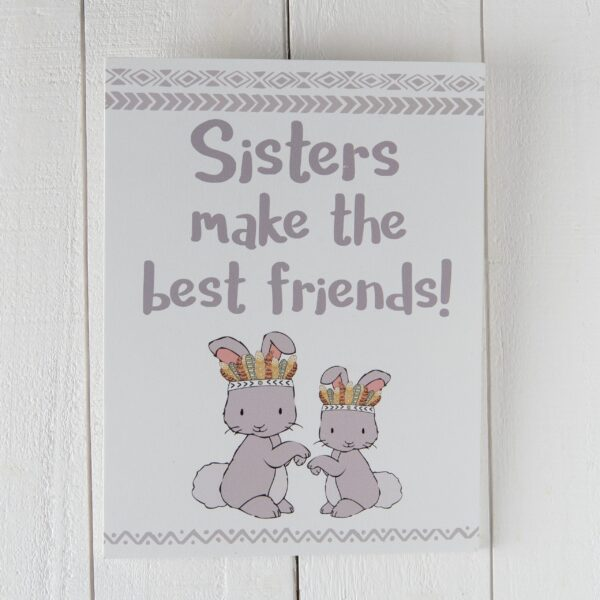 tekstplaat Sisters make the best friends