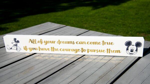 tekstblok Mickey Mouse - desk plaque - Disney magical moment