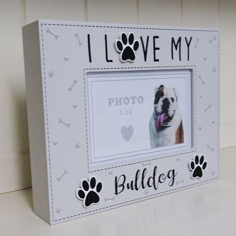 fotokader I love my bulldog, rashond, foto 10x15