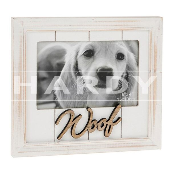 Fotokader Hond, Rustiek, WOOF, 10x15cm