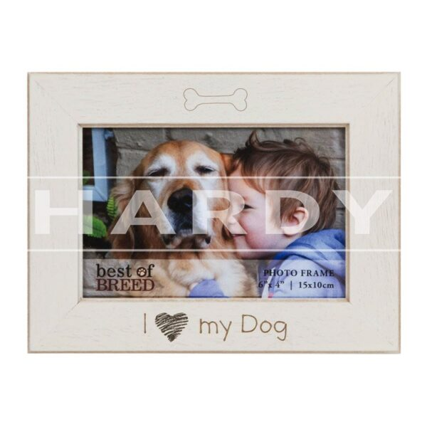 Fotokader Hond, I love my dog, 10x15cm