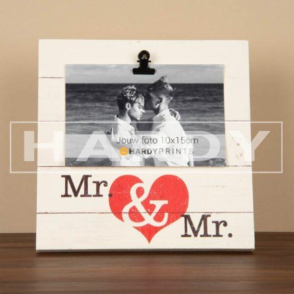 tekstblok Fotoblok 'Mr. en Mr.'