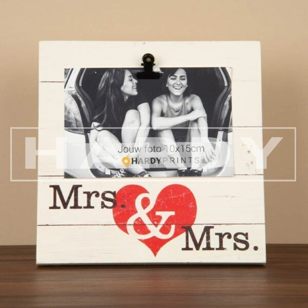 tekstblok Fotoblok 'Mrs. & Mrs.'