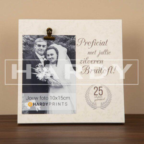 tekstblok Fotoblok 'Proficiat met jullie zilveren bruiloft'