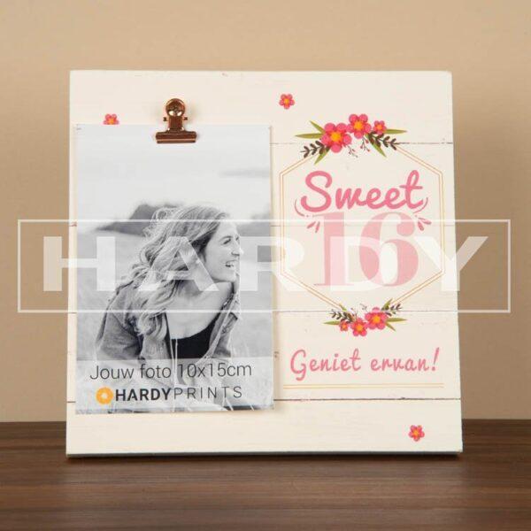 tekstblok Fotoblok 'Sweet 16, geniet ervan'