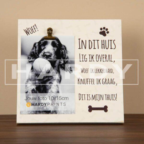 tekstblok Fotoblok 'Hond'