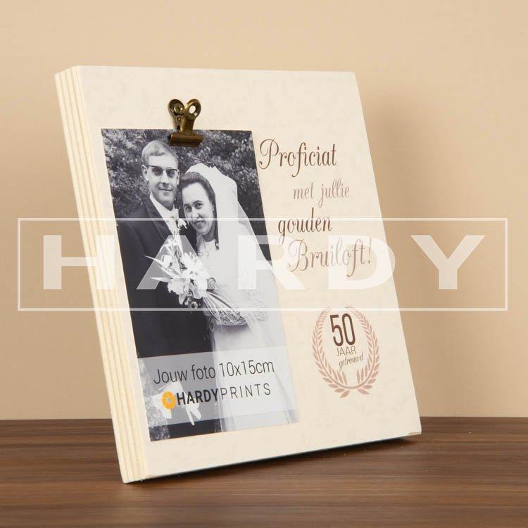 tekstblok Fotoblok 'Proficiat met jullie gouden bruiloft'
