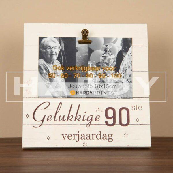 tekstblok Fotoblok 'Gelukkige 90ste verjaardag'