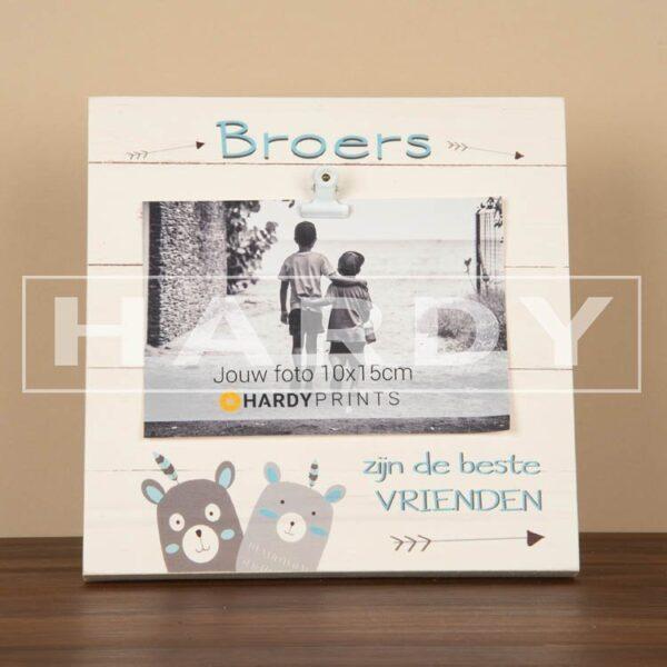 tekstblok Fotoblok 'Broers zijn de beste vrienden' met beertjes