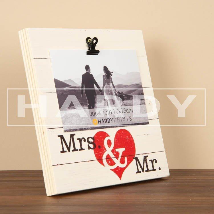 tekstblok Fotoblok 'Mrs. & Mr.'
