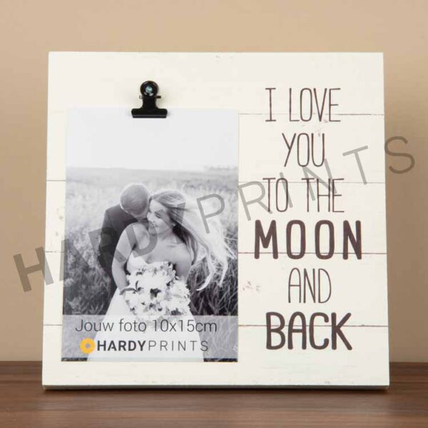 tekstblok Fotoblok ' I love you to the moon and back