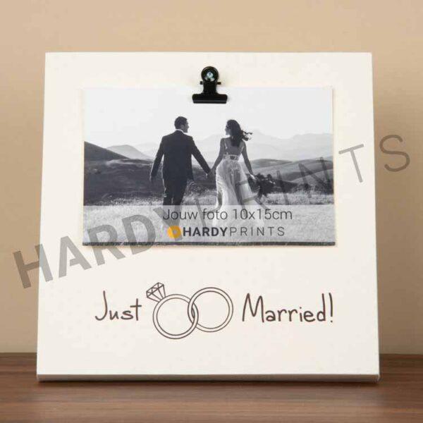 tekstblok fotoblok Just married