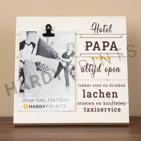 tekstblok Fotoblok 'Hotel papa'