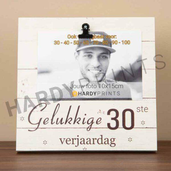 tekstblok Fotoblok 'Gelukkige 30ste verjaardag'