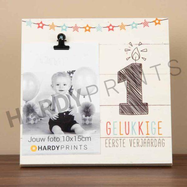 tekstblok Fotoblok 'Gelukkige eerste verjaardag'