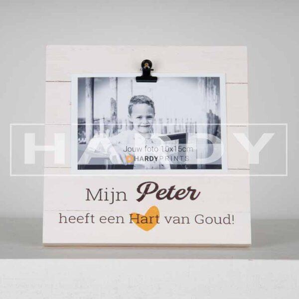 tekstblok Fotoblok 'Mijn Peter heeft een hart van goud'