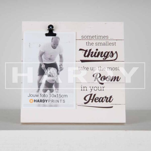 tekstblok Fotoblok 'Sometimes the smallest things take up the most room in your heart'
