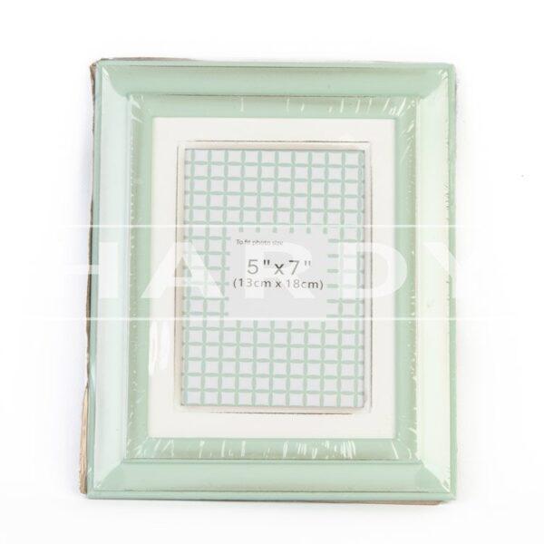 Groene lijst rustiek 28 x 24 cm