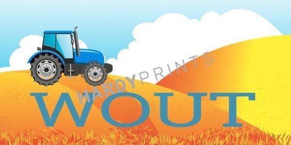 My-Canvas 'Tractor heuvels' met je eigen naam
