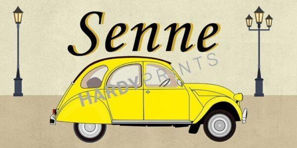 My-Canvas 'Geitje geel' met je eigen naam