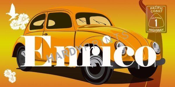 My-Canvas 'Kever oranje' met je eigen naam