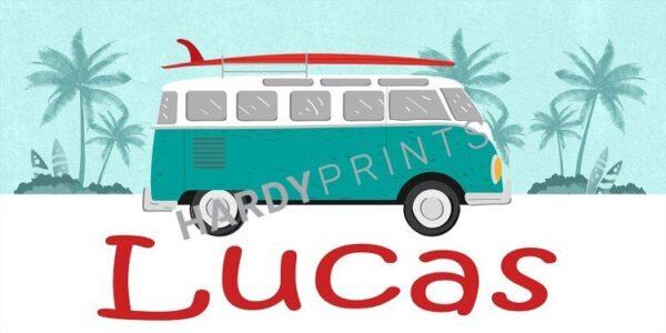 My Canvas 'Surfbus' met je eigen naam