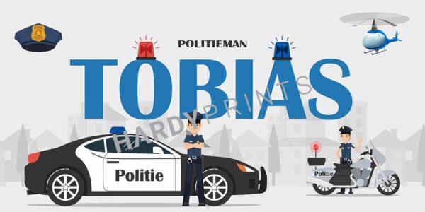 My-Canvas 'Politie' met je eigen naam