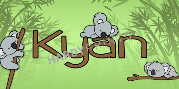 My-Canvas ' Koala' met je eigen naam