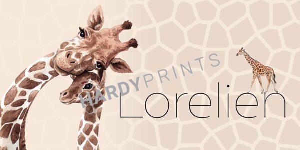 My-Canvas 'Giraffen' met je eigen naam