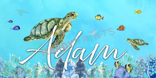 My-Canvas 'Schildpad' met je eigen naam