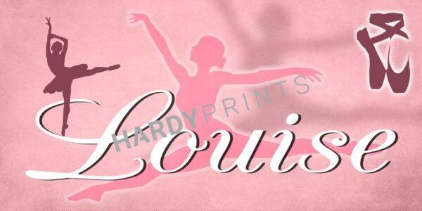 My-Canvas 'Ballet' met je eigen naam