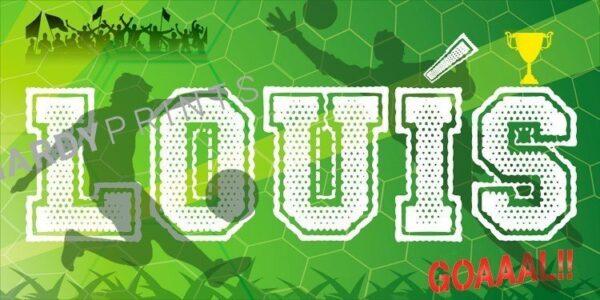My-Canvas 'Voetbal groen' met je eigen naam