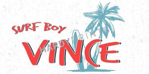 My-Canvas 'Surf boy' met je eigen naam