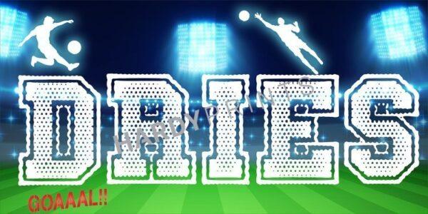 My-Canvas 'Voetbal stadion' met je eigen naam