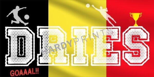 My-Canvas 'Voetbal België' met je eigen naam