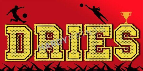 My-Canvas 'Voetbal rood' met je eigen naam