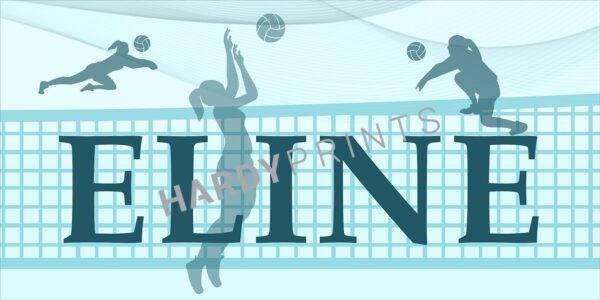 My-Canvas 'Volleybal' met je eigen naam, naambord