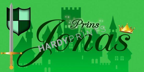 My-Canvas 'Prins groen' met je eigen naam