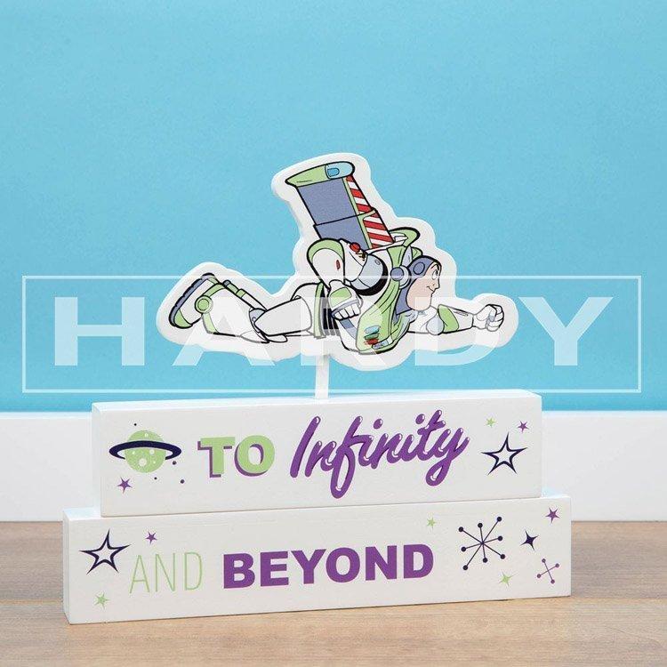 Tekstblok Buzz, Toy Story, To infinity and Beyond