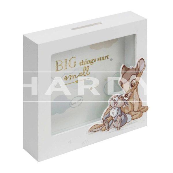 Spaarpot MDF Bambi en Stamper