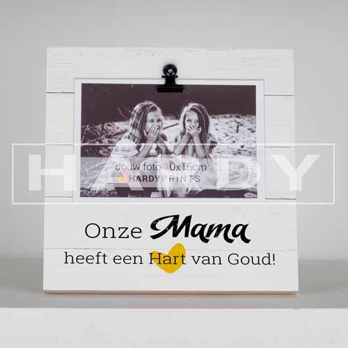 tekstblok Fotoblok 'Onze mama heeft een hart van goud'