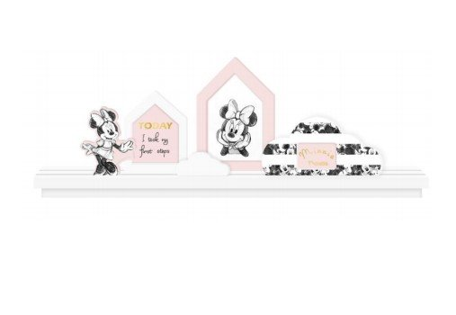 Decoratie - fotokaders Minnie Mouse wandplank