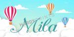 My-Canvas 'Luchtballonnen' met je eigen naam