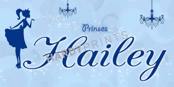 My-Canvas 'Prinses lichtblauw' met je eigen naam
