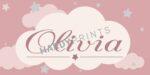 My-Canvas 'Wolkje roze' met je eigen naam