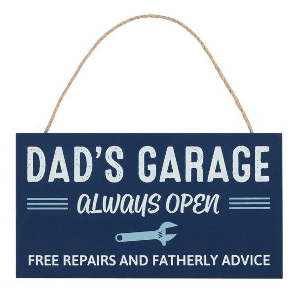 tekstplaat dad's garage