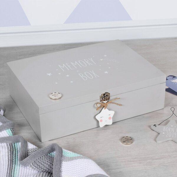 Memory Box hout - Sterretje