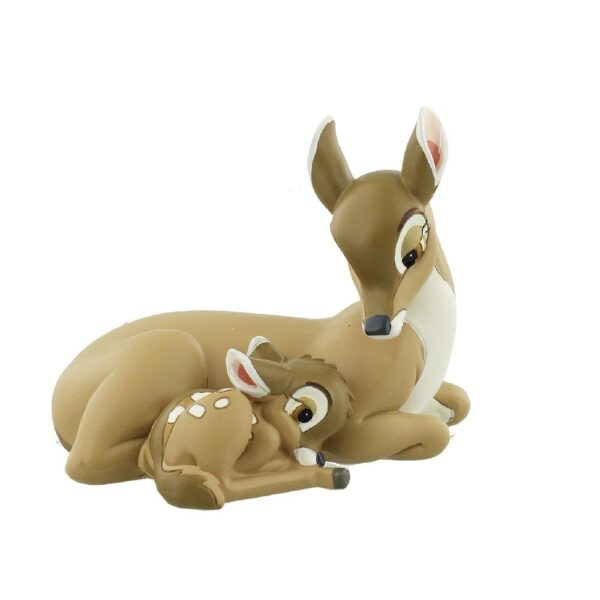 Bambi met mama beeldje