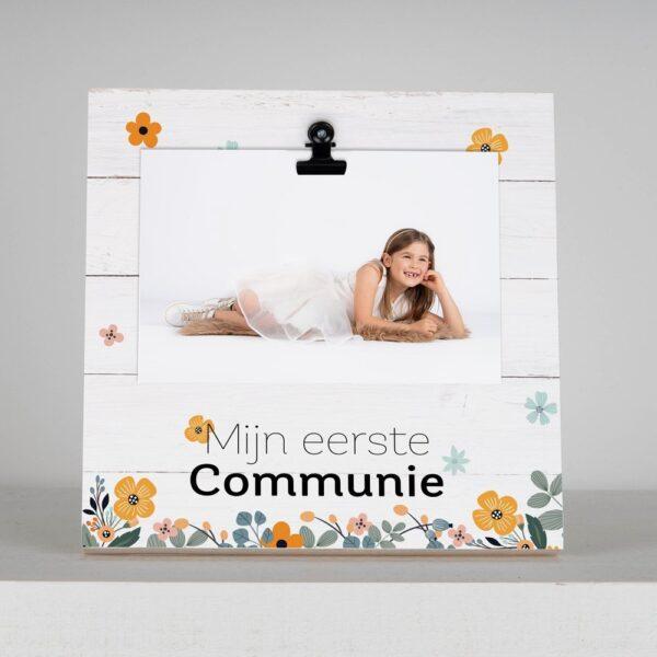 Fotoblok met foto - Mijn eerste communie - HardyPrints - Zonhoven - Geschenk - cadeau - kader