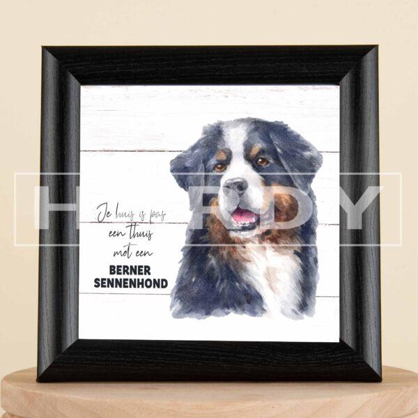 berner sennenhond - decoratie - kader - geschenk